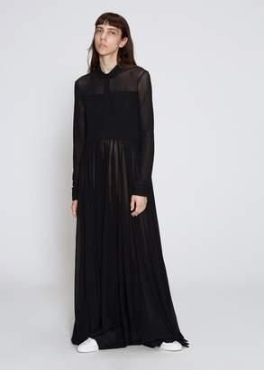 Jil Sander Long Sleeve Full-Length Dress
