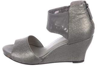 Eileen Fisher Metallic Leather Sandals