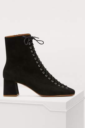 BY FAR Becca lace-up ankle boots