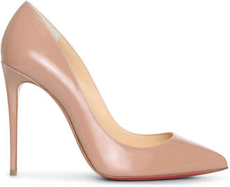 Christian Louboutin Pigalle Follies 100 beige patent leather pumps
