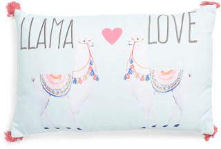 14x22 Llama Love Pillow