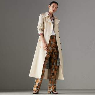 Burberry Cotton Linen Canvas Trench Coat