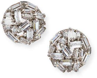 Fallon Monarch Micro Baguette Stud Earrings