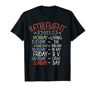 Camper Camping Life Retirement Schedule Van RV Fan Motorhome T-Shirt