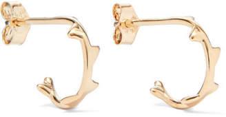 Sebastian SARAH & Thorn Gold Hoop Earrings