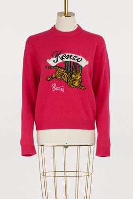 Kenzo Wool jumping tiger sweater