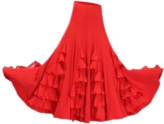 Homyl Elegant One size Ballroom waltz Dancing Long Swing Tango Skirt Flamenco Dress
