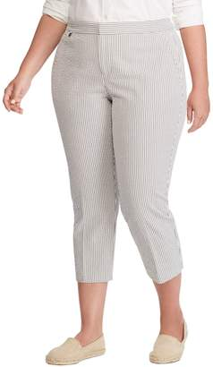 Lauren Ralph Lauren Plus High-Waist Cropped Skinny Pants