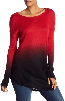 Vince Camuto Ombre Knit Asymmetrical Sweater