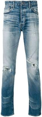 Levi's ripped slim-fit jeans