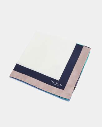 Ted Baker HOPLIAS Contrast border silk pocket square