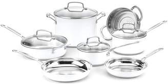 Cuisinart 11Pc White Cookware Set
