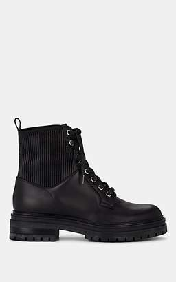 Gianvito Rossi Women's Martis Leather Combat Boots - Black