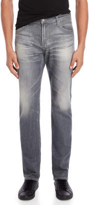 AG Adriano Goldschmied Grey The Graduate Tailored Leg Jeans