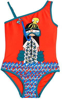 Little Marc Jacobs Toddler's & Little Girl's Snorkeling Miss Marc Asymmetrical Swimsuit