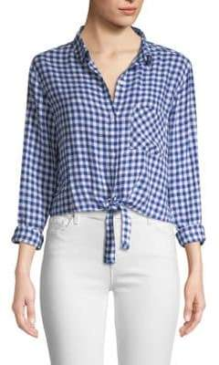 Rails Val Gingham Tie Front Shirt