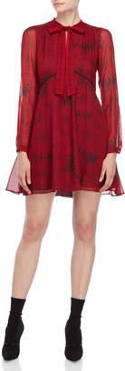 Atos Lombardini Printed Tie Neck Dress