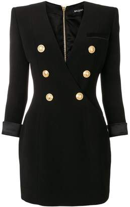 Balmain button embellished fitted dress