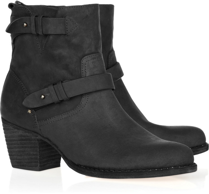 Rag & bone Mid Moto leather ankle boots
