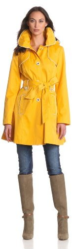 Jessica Simpson Women's Piped Trench Coat