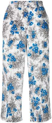 Cavallini Erika cropped floral print trousers