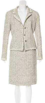 Chanel Fringed Tweed Skirt Suit
