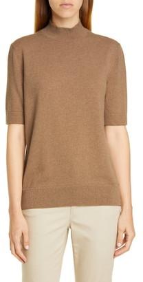 Lafayette 148 New York Mock Neck Metallic Cashmere Sweater
