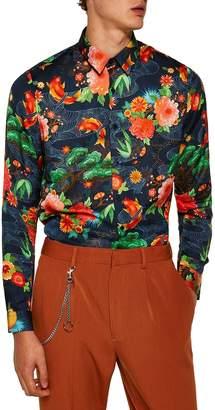 Topman Classic Fit Floral Shirt