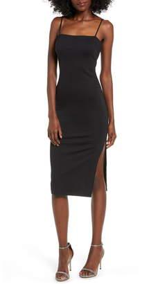 4SI3NNA the Label Soren Sleeveless Side Slit Dress