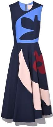 Roksanda Kerama Dress in Sapphire/Nougat/Lavender