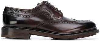 Salvatore Ferragamo punch-hole derby shoes