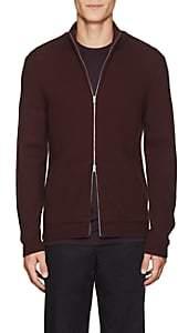 Theory Men's Merino Wool Zip-Front Sweater-Wine