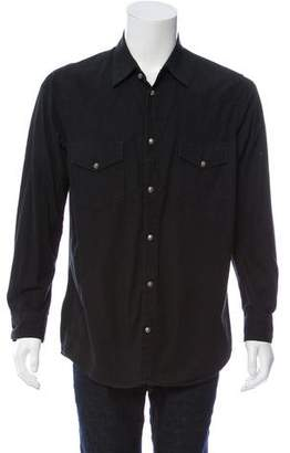 Chrome Hearts Sterling-Accented Western Button-Up Shirt