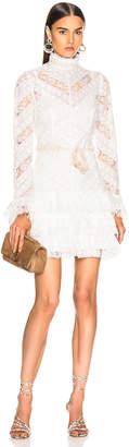 Zimmermann Veneto Perennial Short Dress in Ivory | FWRD