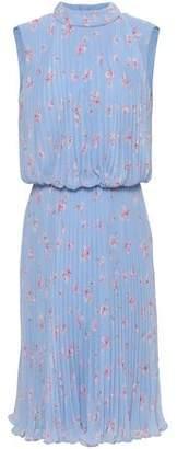 Mikael Aghal Floral-print Plisse-chiffon Dress