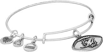 Alex and Ani NFL Miami Dolphins Football Bangle Charms Bracelet