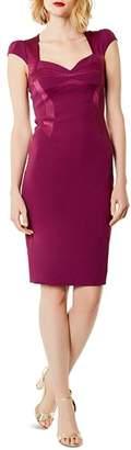 Karen Millen Satin-Panel Sheath Dress