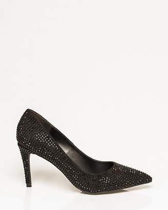 Le Château Jewel Embellished Suede-Like Pump