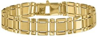 """Italian Gold Men's 8-1/4"""" Rectangle Link Bracelet, 22.0g, 14K"""