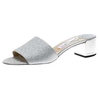 Jimmy Choo Silver Glitter Sandals