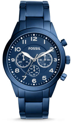 Fossil Flynn Pilot Chronograph Blue Stainless Steel Watch