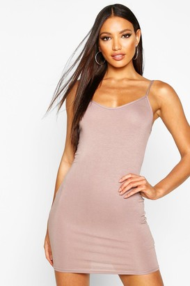 boohoo Freida Basic Strappy Cami Bodycon Dress $10 thestylecure.com