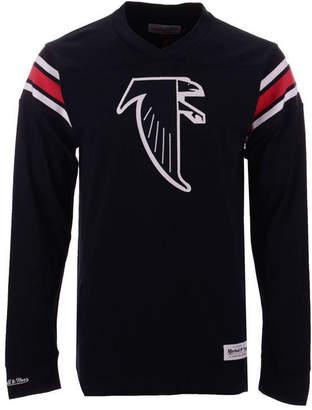 Mitchell & Ness Men's Atlanta Falcons Team Captain V-Neck Long Sleeve T-Shirt