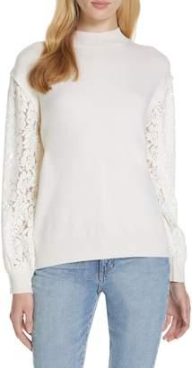 Clu Lace Blouson Sleeve Sweater
