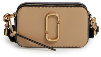 Marc Jacobs Snapshot Leather Crossbody Bag - Beige $295 thestylecure.com