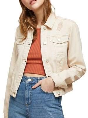 Miss Selfridge Ripped Denim Jacket