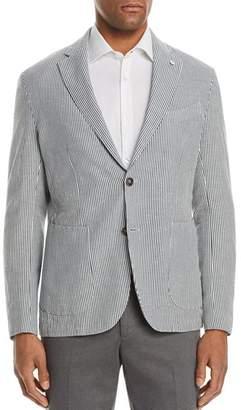 L.B.M Shirt Stripe Cotton & Linen Slim Fit Sport Coat