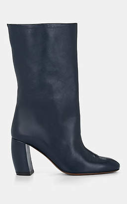 Neous Women's Ophrys Leather Mid-Calf Boots - Navy