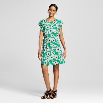 Merona Women's Floral Ruffle Sleeve Dress - Merona Green Floral $27.99 thestylecure.com
