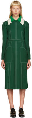 Burberry Green Topstitch Dress